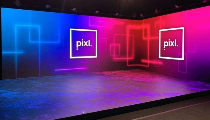 Pixl company board on stage